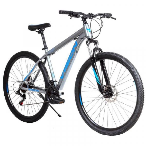 BICICLETA ARO 29 MTB OXIGEN GRIS/AZUL